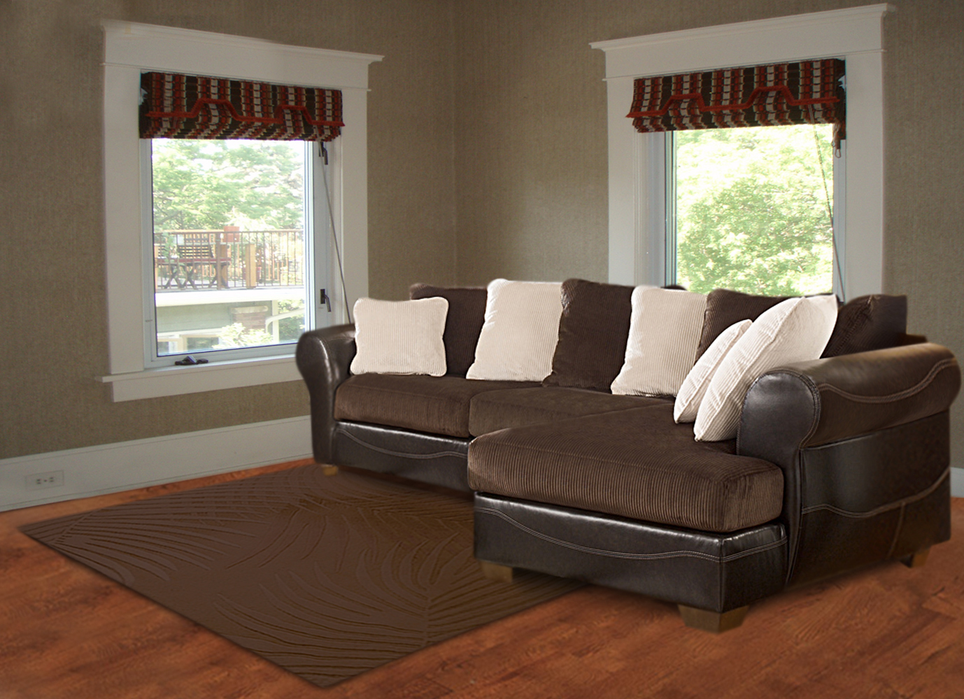 819-Sectional-Brown