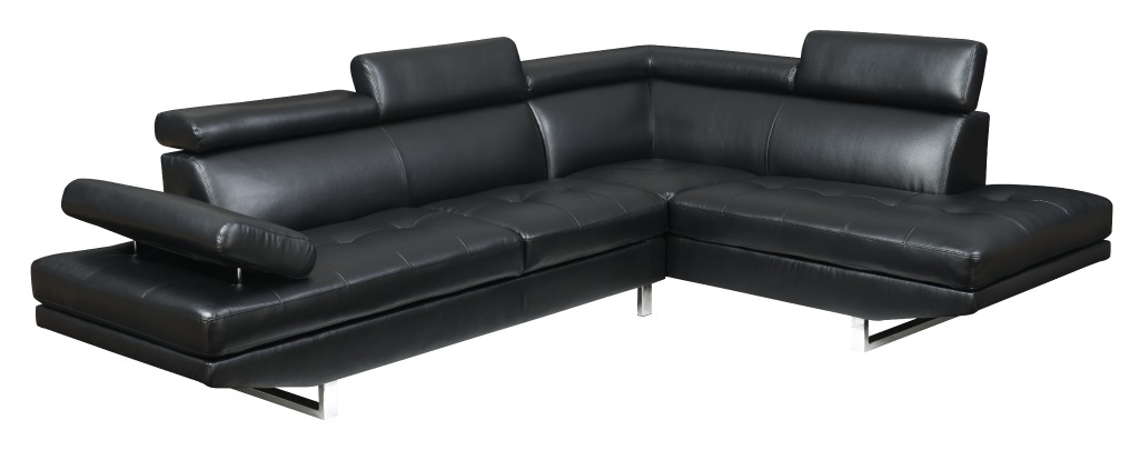 Metairie in black leather