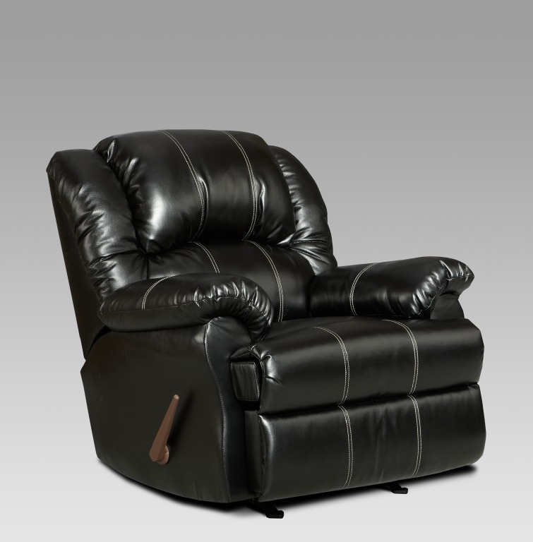 brandon reclining chair in black