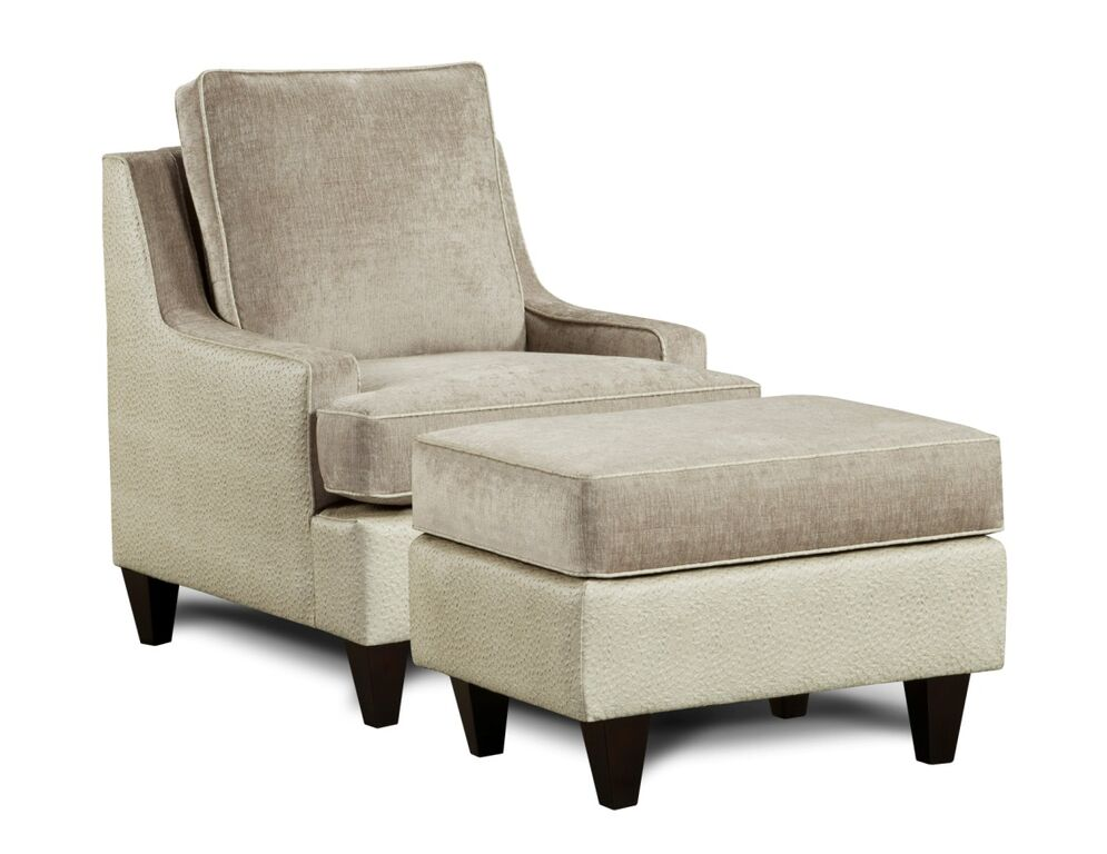 monte carlo chair & otoman in lavendar