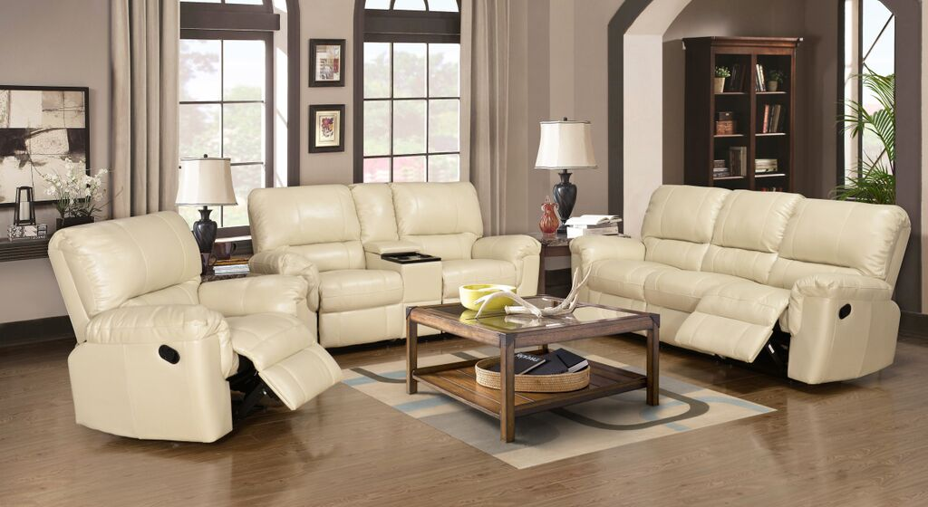 ramon leather air recliner in cream