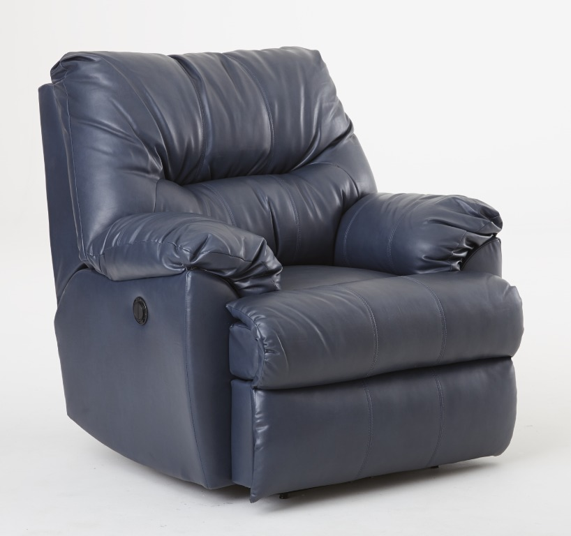 samson power recliner in cadet gray
